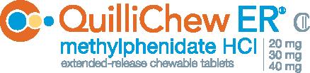 QuilliChew ER® Methylphenidate HCl 20mg 30mg 40mg Logo